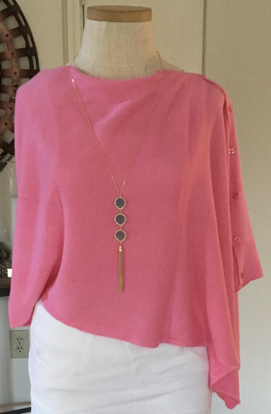 Witchy Poo's Pink Button Capelet