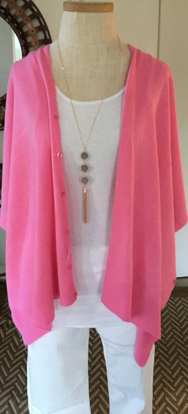 Witchy Poo's Fuschia Button Capelet