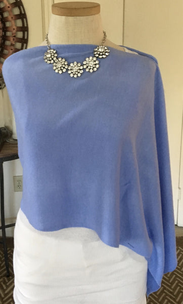 Witchy Poo's Periwinkle Button Capelet
