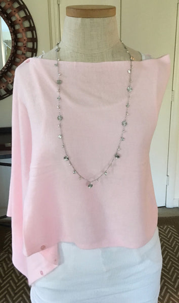 Witchy Poo's Pale Pink Button Capelet