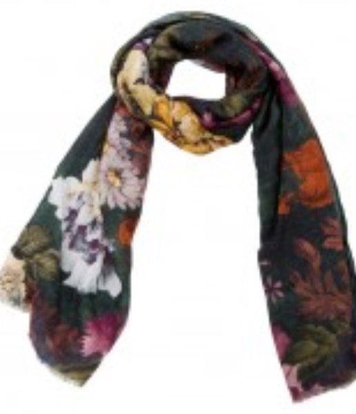 Witchy Poo's Green Ralph Floral Scarf