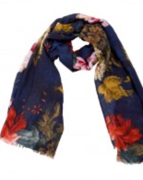 Witchy Poo's Navy Ralph Floral Scarf