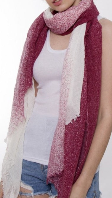 Witchy Poo's Wine Color Speckled Scarf
