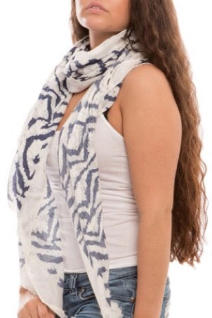 Witchy Poo's Blue Abstract Scarf