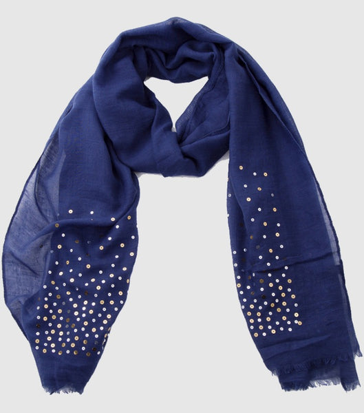 Witchy Poo's Navy Glitter Scarf