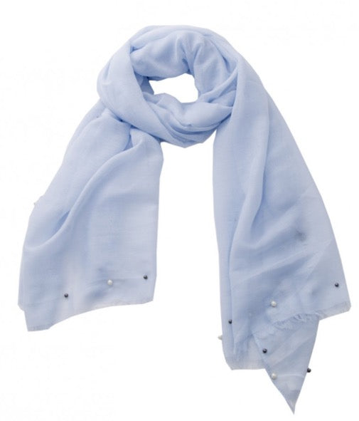Witchy Poo's Blue FAUX Pearl Scarf