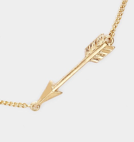 Witchy Poo's Gold Arrow  Necklace