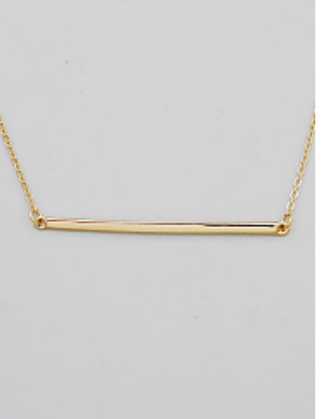 Witchy Poo's Gold Long Bar Necklace