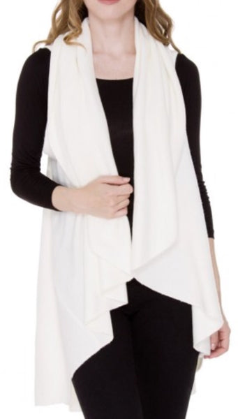 Witchy Poo's White Shawl Vest