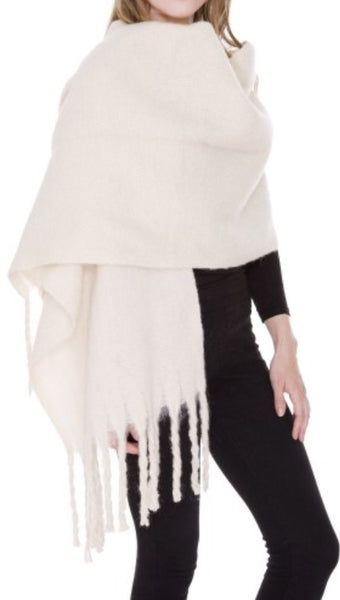 Witchy Poo Ivory Chunky Scarf
