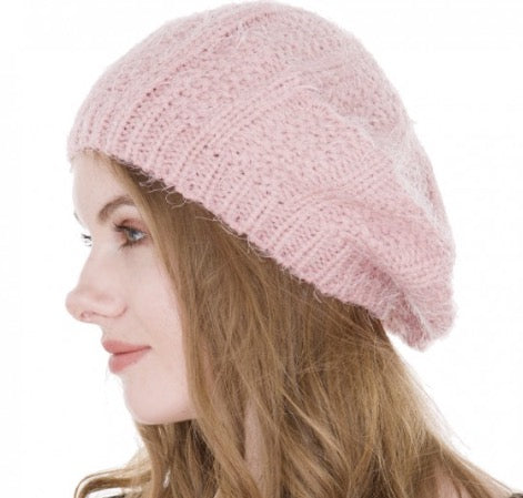 Witchy Poo's Blush Knit Beret