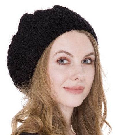 Witchy Poo's Black Knit Beret