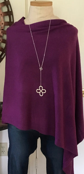 Witchy Poo Classic Violet Poncho