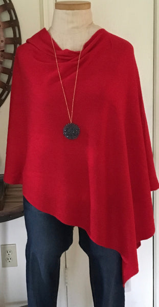 Witchy Poo Classic Red Poncho