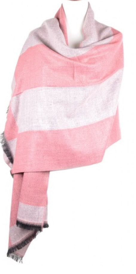 Witchy Poo Pink on Pink Stripe Blanket Scarf