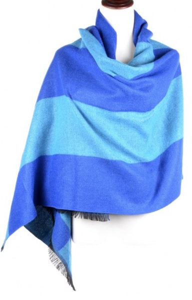 Witchy Poo Blue on Blue Stripe Blanket Scarf
