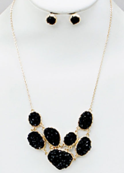 Witchy Poo's Black Druzi Statement Necklace