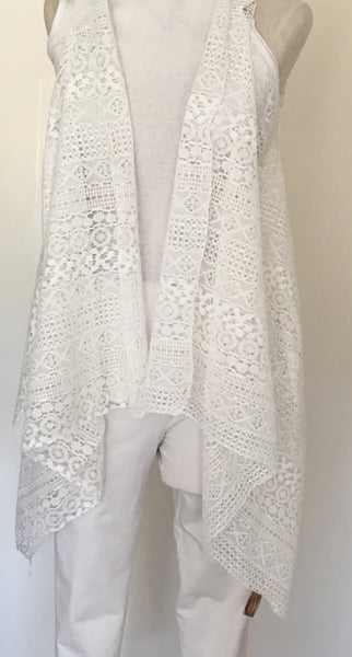 Witchy Poo's White Lace Vest