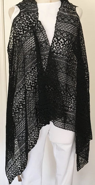 Witchy Poo's Black Lace Vest