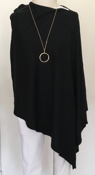 Witchy Poo's Classic Black Poncho