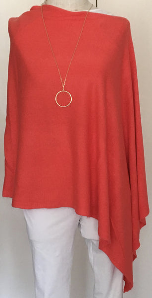Witchy Poo's Classic Coral Poncho