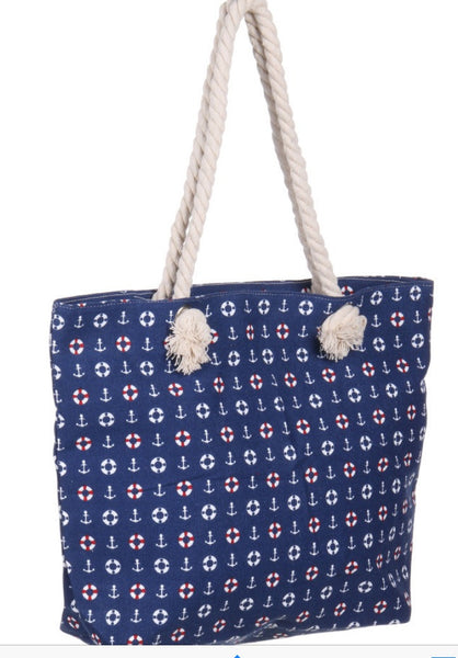 Witchy Poo's Navy Nautical Bag