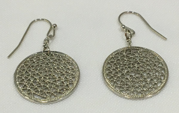 Witchy Poo's  Silver Disc Earrings