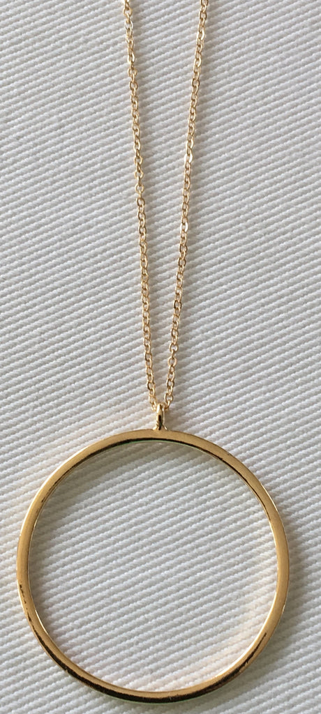 Witchy Poo's Gold Circle Necklace