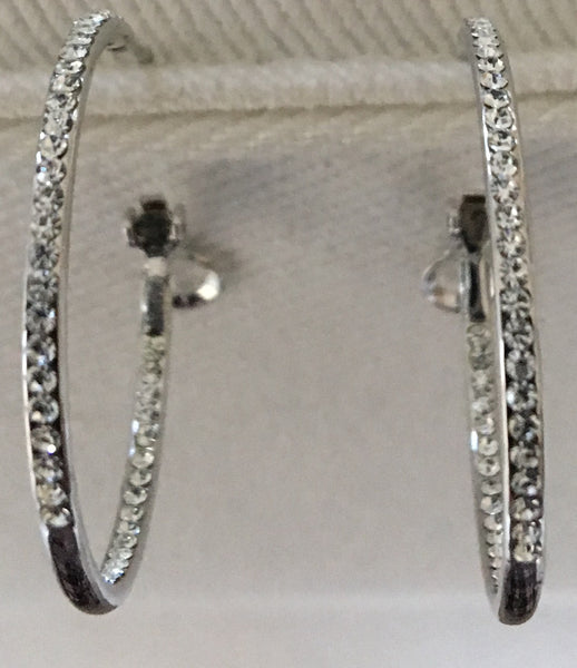 Witchy Poo's Silver Cubic Zerconia Open Hoop Earring