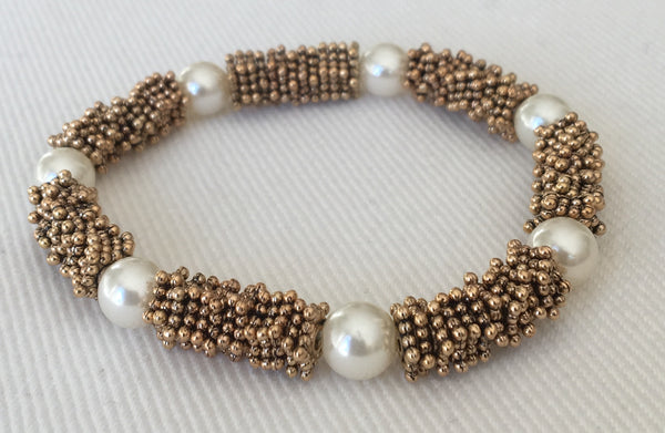 Witchy Poo's Silver Pearl Station Bracelet