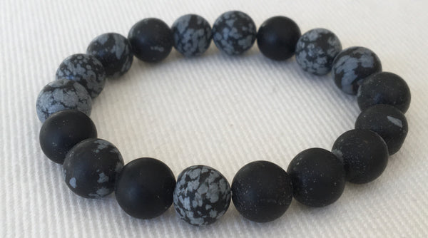 Witchy Poo's 6mm Black Semi Precious Stone Bracelet