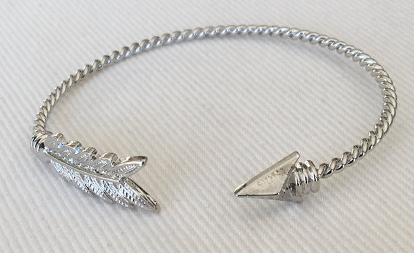 Witchy Poo's Silver Arrow Twisted Bracelet