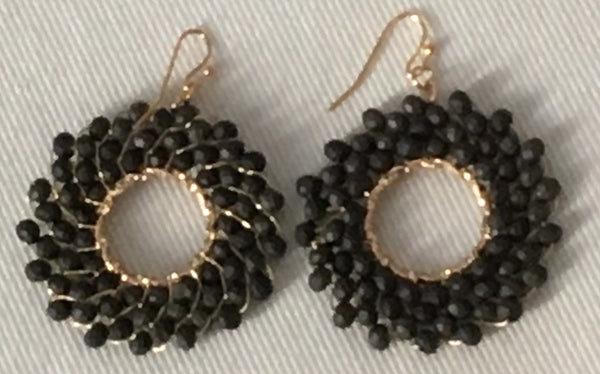 Witchy Poo's Black Multi Bead Earring