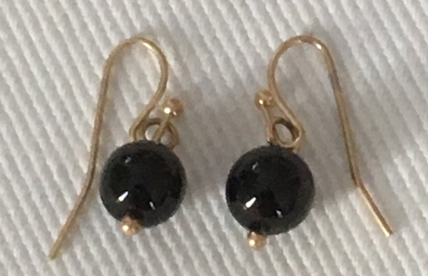 Witchy Poo's Black Bead  Earring