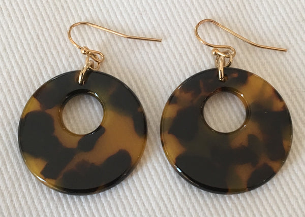 Witchy Poo's Tort Disc Earring