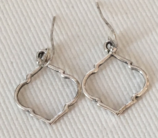Witchy Poo's Silver Baby Quatrefoil Earrings