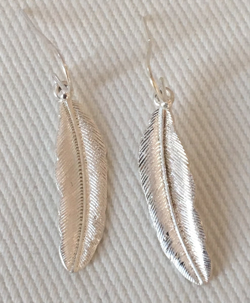 Witchy Poo's Silver Feather Earring