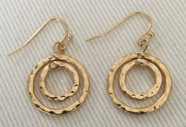 Witchy Poo's Gold Open Double Circle Earring