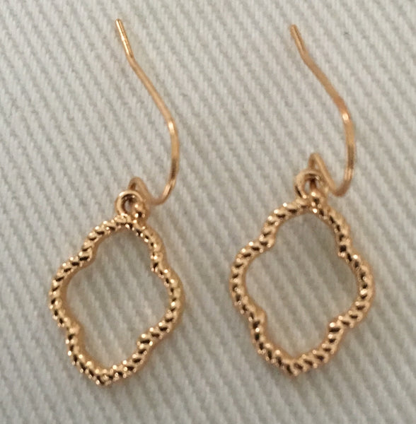 Witchy Poo's Gold Open Quatrefoil Earring