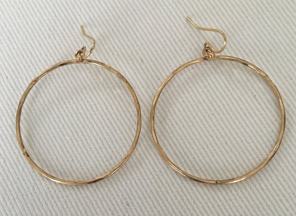 Witchy Poo's Gold Large Circle  Earring