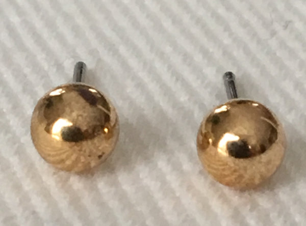 Witchy Poo's  Gold Ball  Earrings