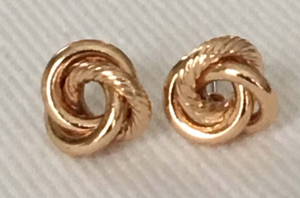 Witchy Poo's  Gold Mixed Texture Knot Earrings