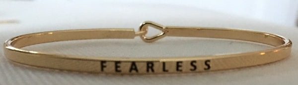 "Witchy Poo Gold ""FEARLESS"" Bracelet"