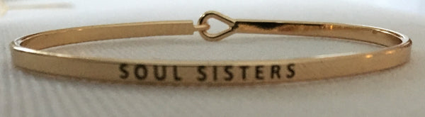 "Witchy Poo Gold ""SOUL SISTERS"" Bracelet"