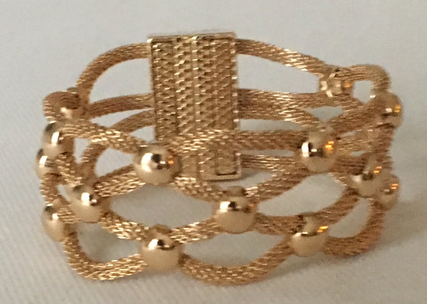 Witchy Poo's Gold Mesh Open Braid Bracelet