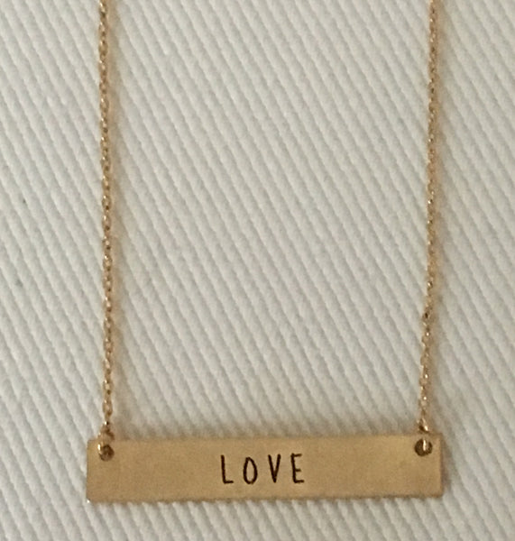 "Witchy Poo's Gold ""LOVE"" Necklace"