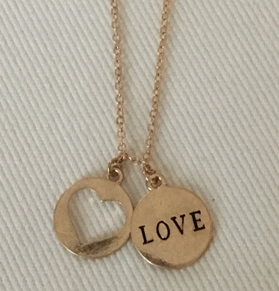 "Witchy Poo Gold "" ❤️love"" Necklace"