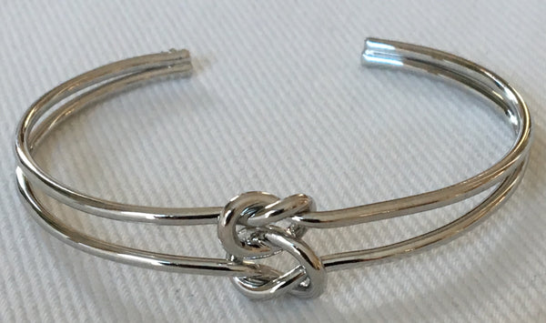 Witchy Poo's Silver Bracelet w/ Double Knot
