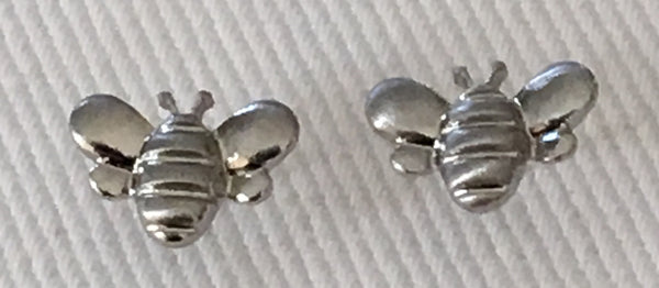 Witchy Poo Silver Bee Earrings