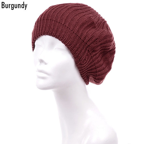 Witchy Poo's Burgandy Shaker Beret